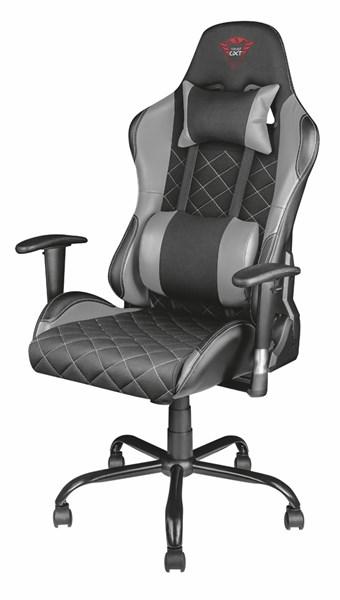 GXT 707G Resto Gaming Chair, kangaskeinonahkaverhoilu, mustaharmaa