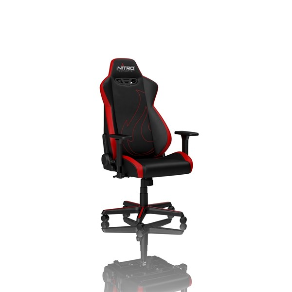 S300 EX Gaming Chair Inferno Red, keinonahkaverhoiltu pelituoli, mustapunainen
