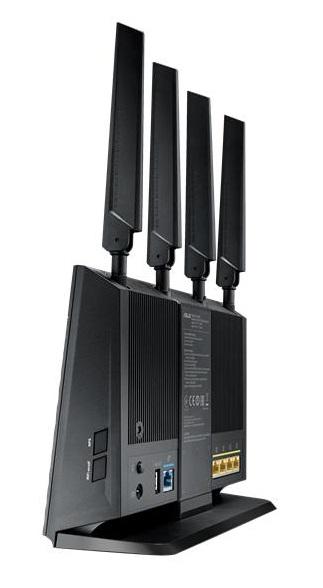 Asus 4G-AC68U, langaton LTE -reititin, AC1900, musta - Jimms.fi